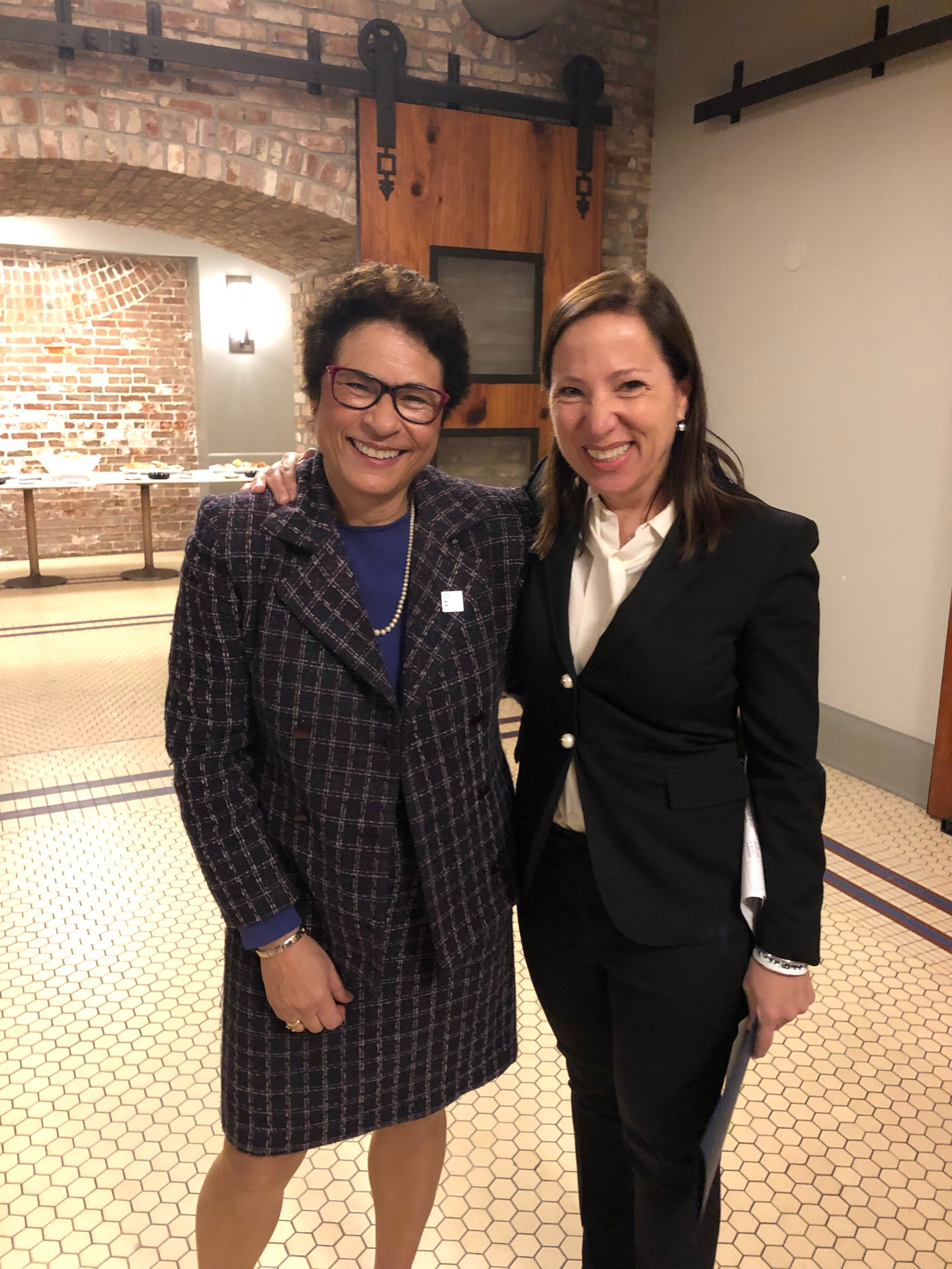 Image of Lt. Governor Kounalakis and BizFed Government Relations Director Lara Larramendi