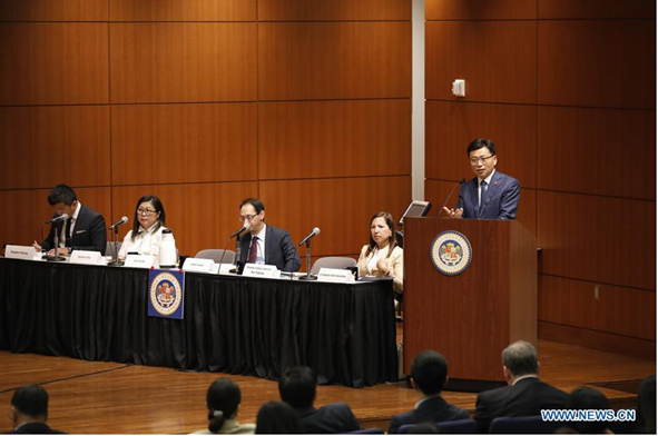 Image of Lt. Governor Eleni Kounalakis and others at the Assembly Committee on Asia/California Trade Investment Promotion