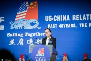 Image of Lt. Governor Kounalakis speaking at the US-China Relationship Summit