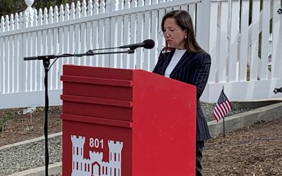 Lt. Governor Kounalakis at Mare Island Naval Cemetery on Veteran's Day