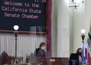 Image of Lt. Governor Kounalakis at the podium